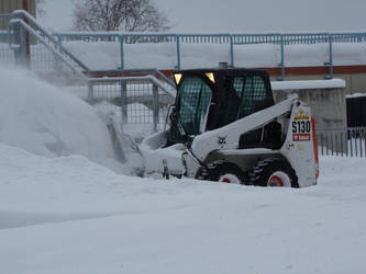 Bobcat Clearing Snow by Maxojir