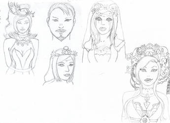 Dynasty Warriors Sketchudump by vampire-moon