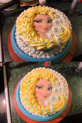 Elsa Piped Braid Cake by Sakura-Courage-Solo