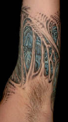Morbid Tattoo Left Arm by Jochen-SOD