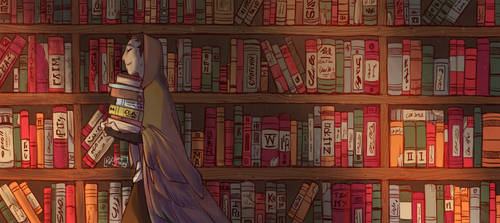 Owlem and his books by RoItsSomething