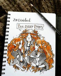 Inktober 2017 day 2! -Divided by RoItsSomething