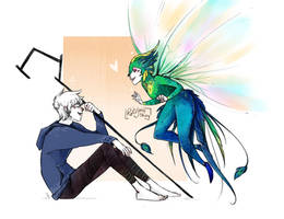 Jack Frost and the Tooth Fairy by RoItsSomething