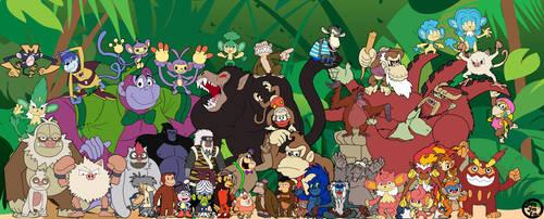 Famous Monkeys by jimjimfuria1