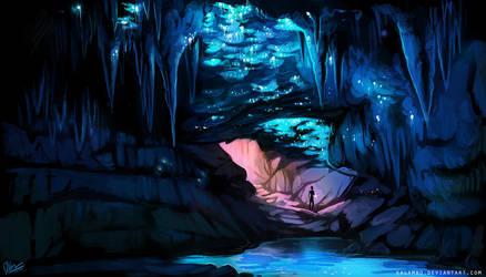 Glowworm cave by kalambo