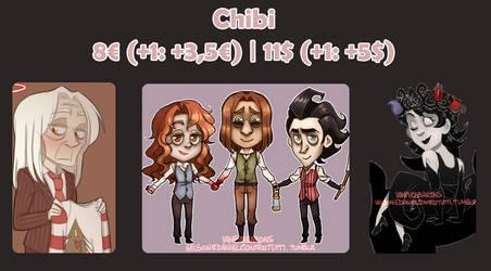 Chibi Commissions by VampireBarons