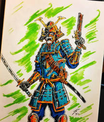Deathstroke the Samurai by coyote117