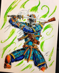 Deathstroke the Samurai version 2 by coyote117