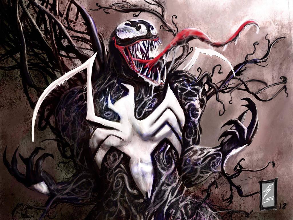 Venom art team up 1 by coyote117