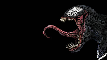Venom typography by Midu1995