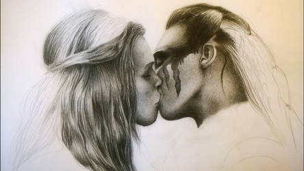 Clarke and Lexa (in progress) by Kaibutsu14