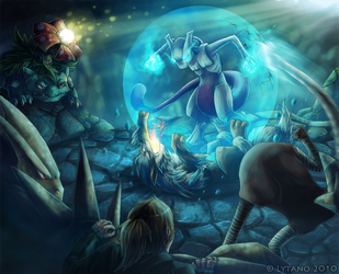 Fight for Mewtwo by Deltheor
