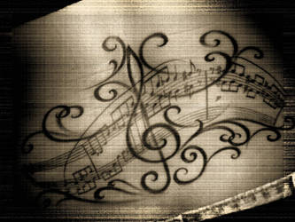 note music tattoo by Angie2904