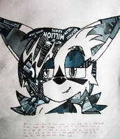 Collage work Nicole the lynx by Thealmosthalfdead