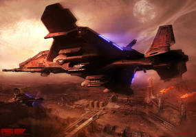 Offworld - Fighter Escort by Pol2ion
