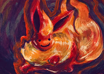 For Sale: Ditto Flareon Painting by TerribleSaturn