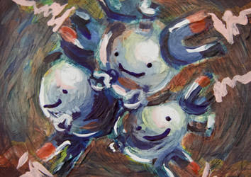 For Sale: Ditty Magneton Painting by TerribleSaturn