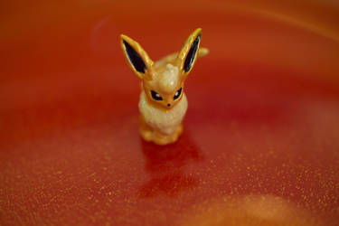 For Sale: Small Shiny Flareon Figurine by TerribleSaturn