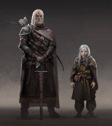 Wizard and Guardian by shenfeic