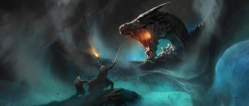 Dragon Encounter by shenfeic