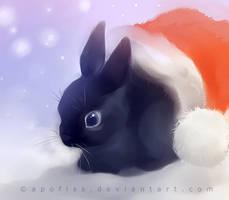black rabbit by Apofiss