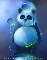 aqua panda by Apofiss
