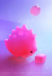 bubble gum dino by Apofiss