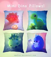 mini dino pillows by Apofiss