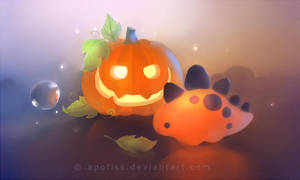 pumpkin dino ( update ) by Apofiss