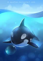 mini whale by Apofiss