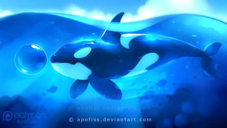 deep blue by Apofiss