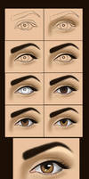 very simple eye painting by vanellia