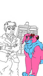 Rachel and the 10th doctor WIP by Oklahoma-Lioness