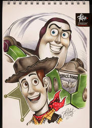 COPIC sketch 85 TOY STORY by FranciscoETCHART