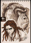 COPIC sketch 86 TARZAN by FranciscoETCHART