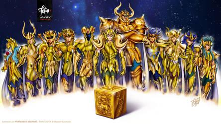 GOLDIES WALLPAPER Saint Seiya by FranciscoETCHART