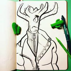 Inktober: (day 25) Prickly by AgentBlackBlood