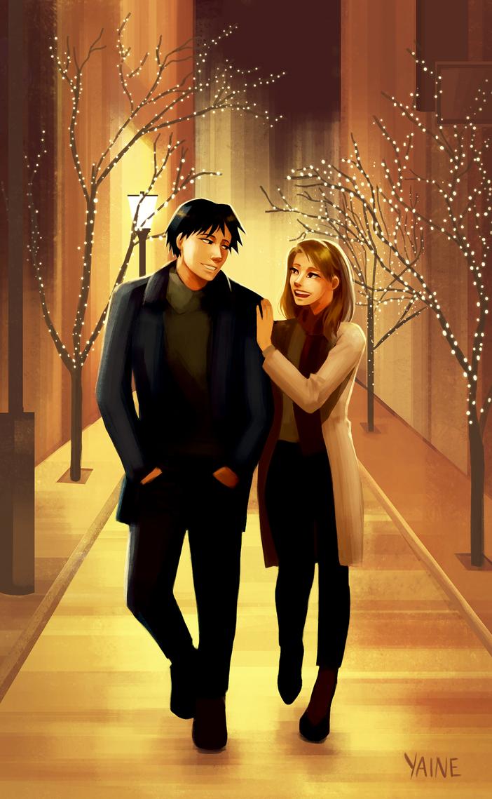 Christmas Lights by yainedraws