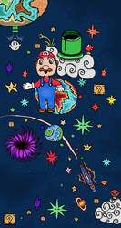 Super Mario Galaxy by demonflair