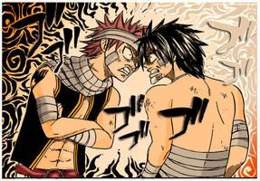 Natsu vs Grey by GinFreeks