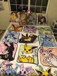 Eevee-lution blanket by TheSpyWhoLuvedMe