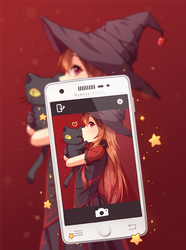Commission - Magic Selfie by Hyanna-Natsu