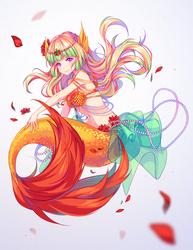 [+Video] Commission - Underwater petals by Hyanna-Natsu
