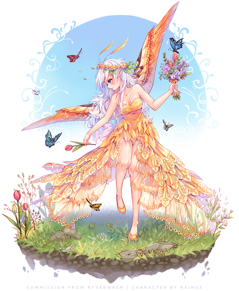 [+Video] Commission - Butterfly Bouquet by Hyanna-Natsu