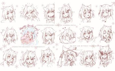 Commission - Serena Emotions by Hyanna-Natsu