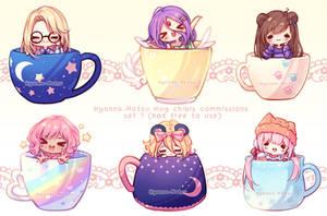 Commission - Mug Chibi Set 1 by Hyanna-Natsu