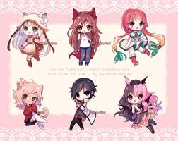 Commission - Sticker Chibis by Hyanna-Natsu