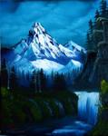 Mountain Waterfall by paintedflowers