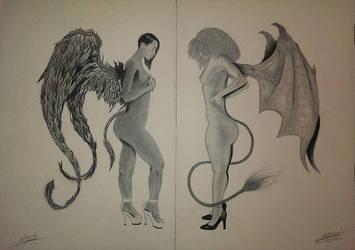 Ange Vs Demon by jun-bo