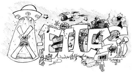 x-files graffiti by skuuri